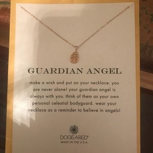 DOGEARED DELICATE GUARDIAN ANGLE  NECKLACE